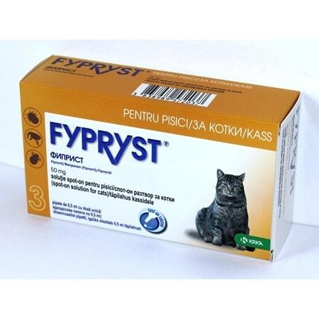 Fypryst spot on pentru pisici - cutie cu 3 pipete