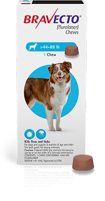 Bravecto 1000 mg - tableta pentru caini intre 20-40 kg (1 tableta)