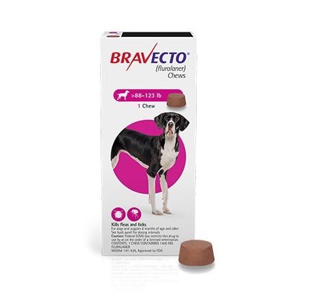 Bravecto 1400 mg - tableta pentru caini intre 40-56 kg (1 tableta)