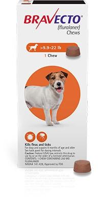 Bravecto 250 mg - tableta pentru caini intre 4.5-10 kg (1 tableta)