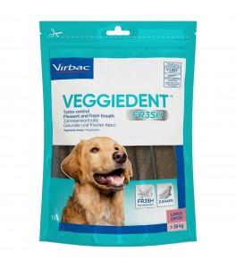 Veggiedent Fr3sh L, batoane masticabile pentru igiena orala pentru caini de talie mare - 15 buc