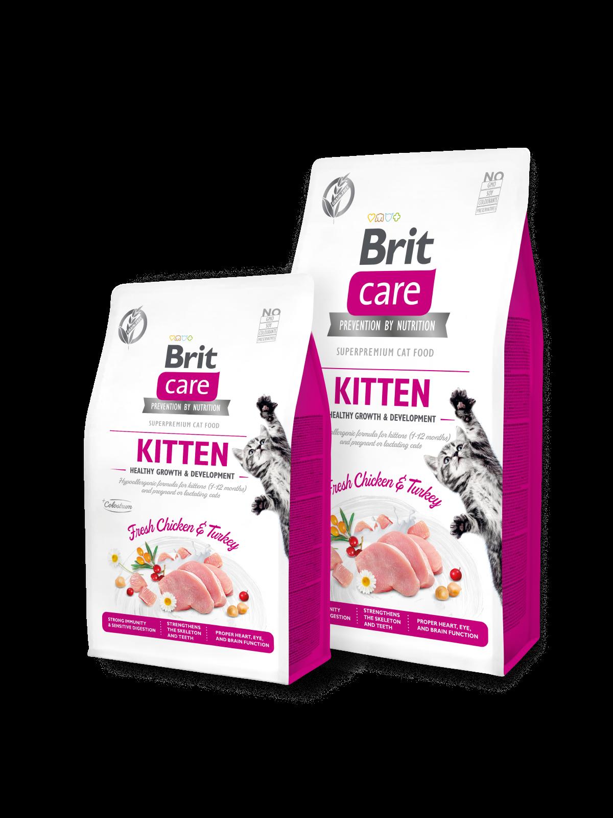 Brit Care Cat Grain-Free KITTEN HEALTHY GROWTH AND DEVELOPMENT - 2 kg