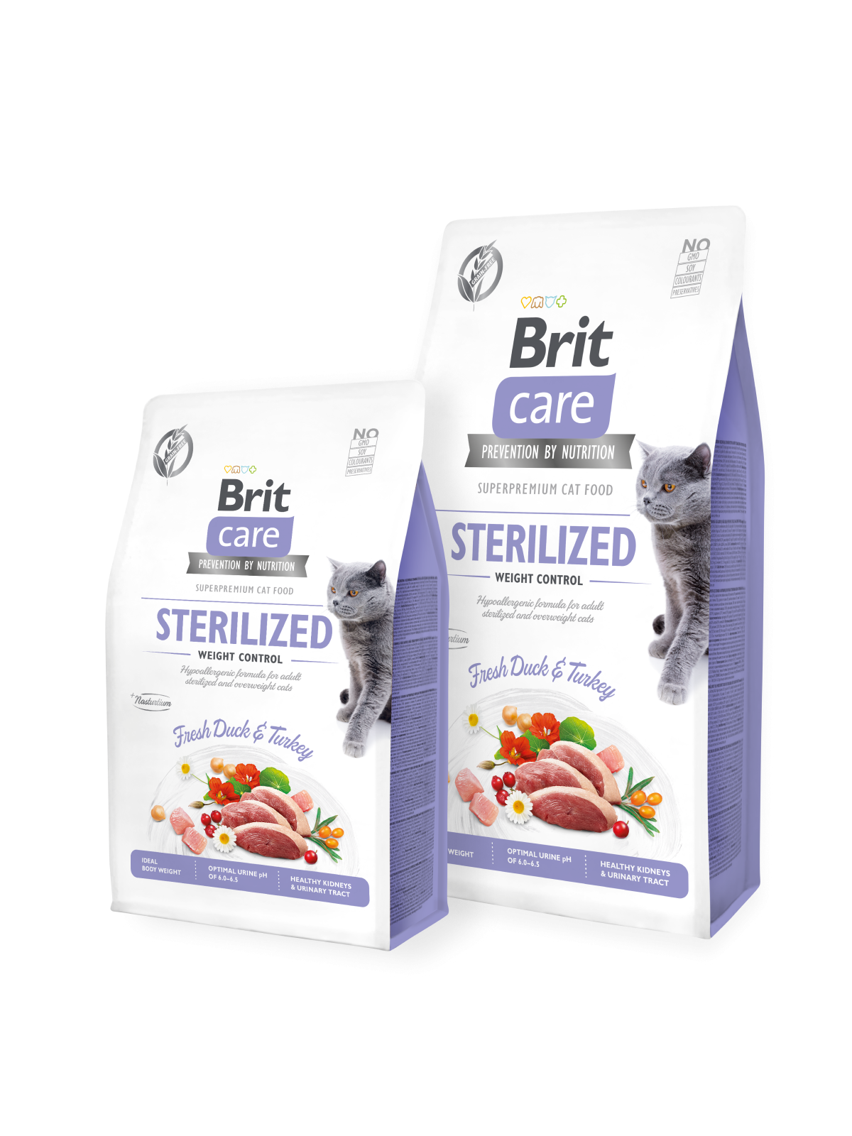 Brit Care Cat Grain-Free STERILIZED AND WEIGHT CONTROL - 400 g