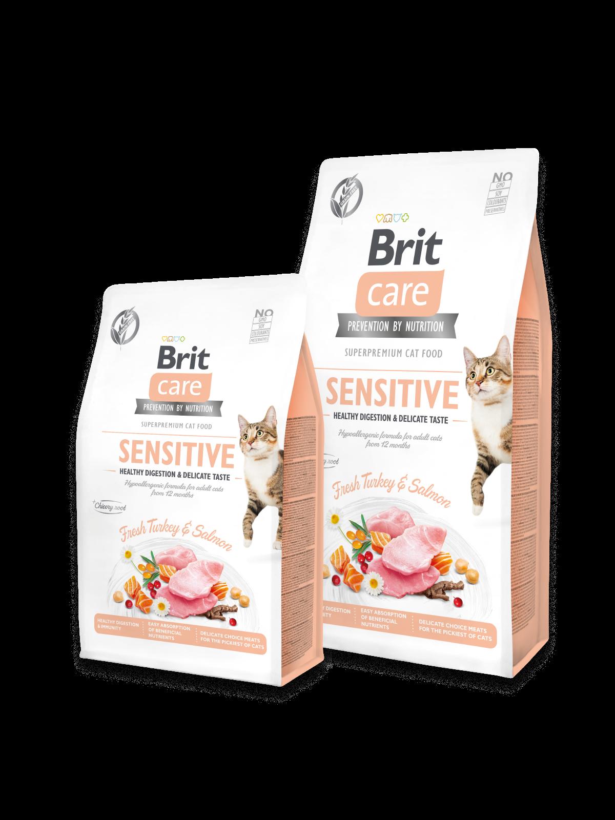 Brit Care Cat Grain-Free SENSITIVE HEALTHY DIGESTION AND DELICATE TASTE - 2 kg