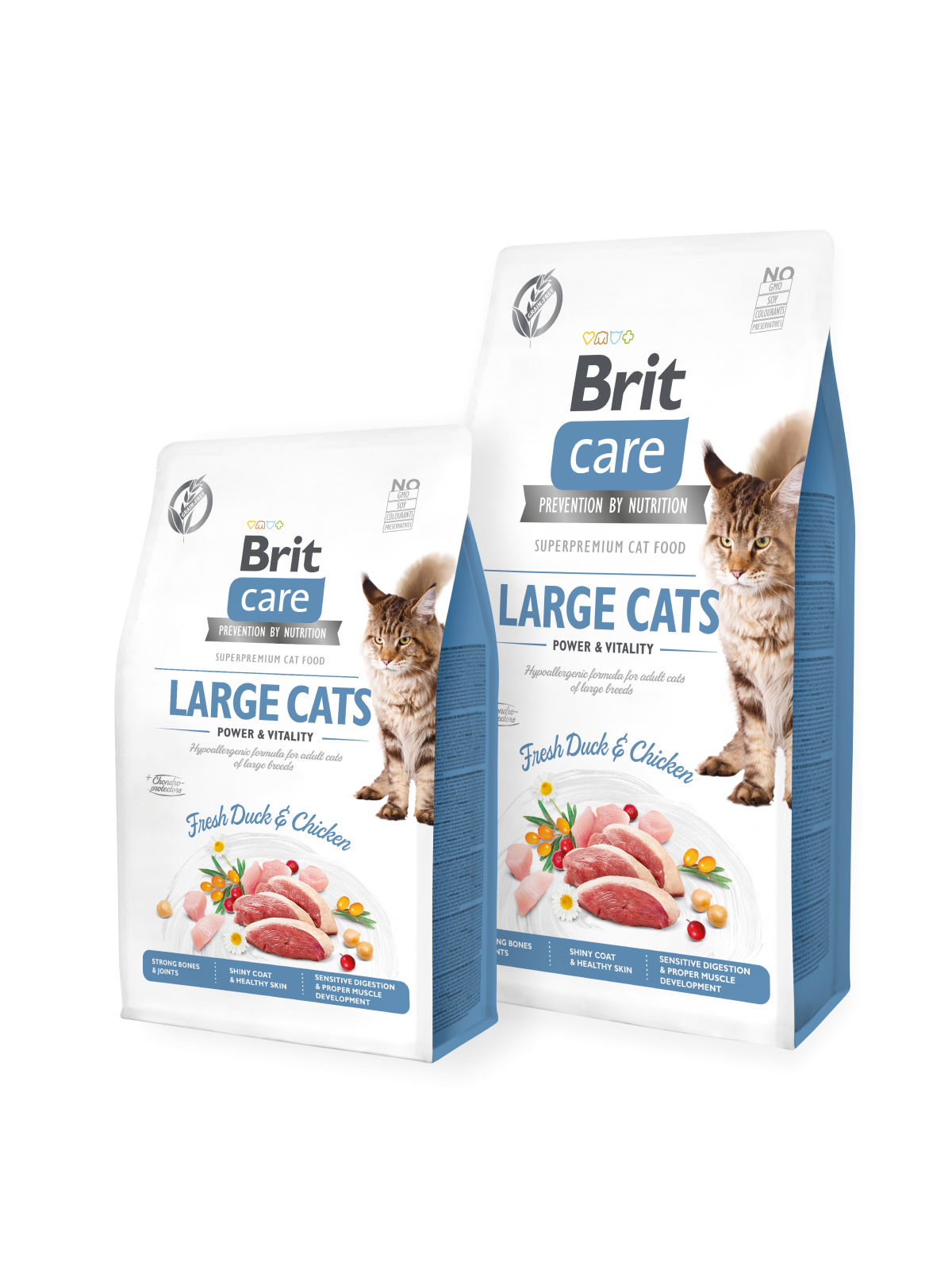 Brit Care Cat Grain-Free LARGE CATS POWER AND VITALITY - 2 kg