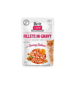 Brit Care Cat Pouch SAVORY SALMON in Gravy - 85 g