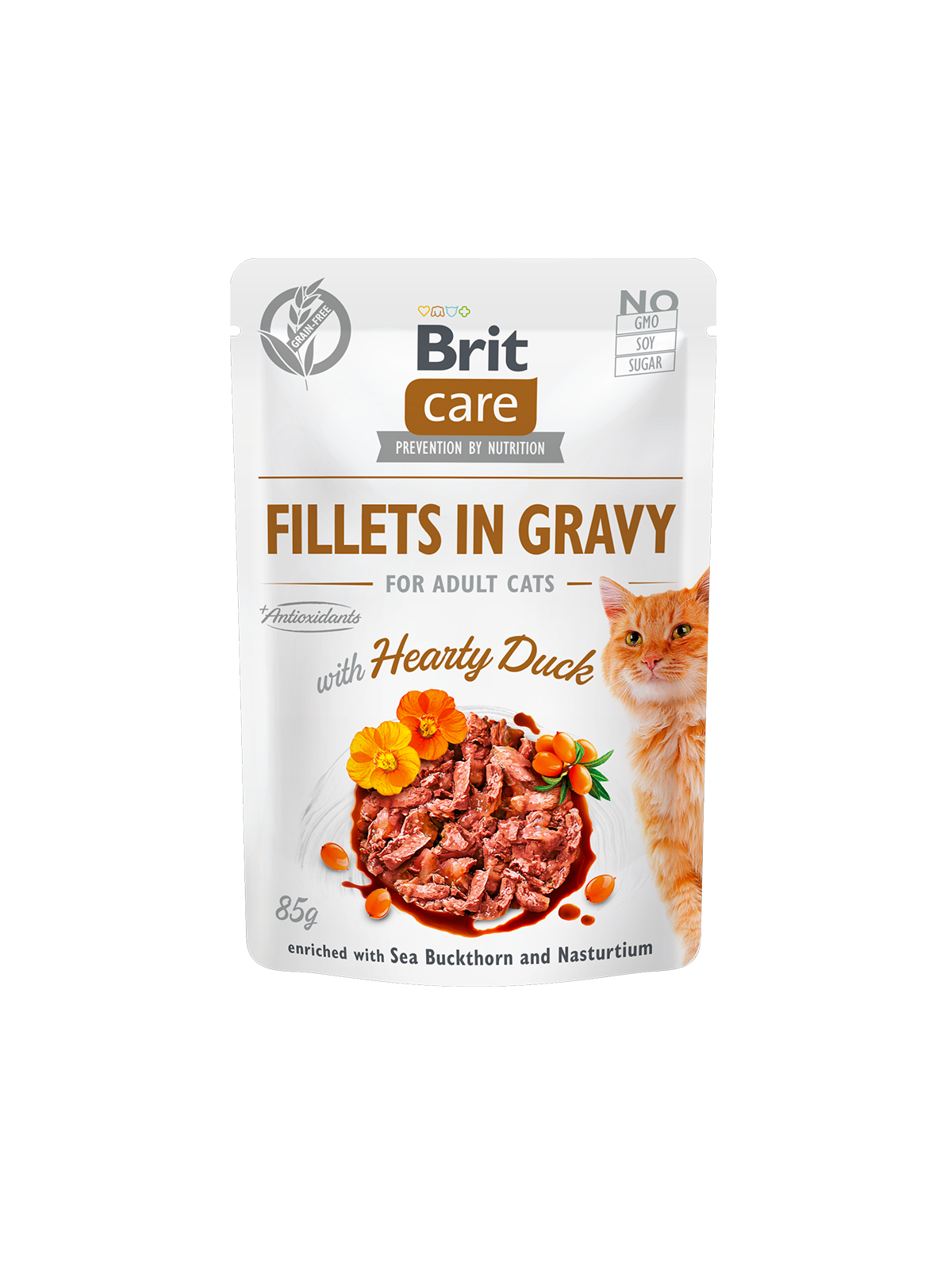 Brit Care Cat Pouch HEARTY DUCK in Gravy - 85 g