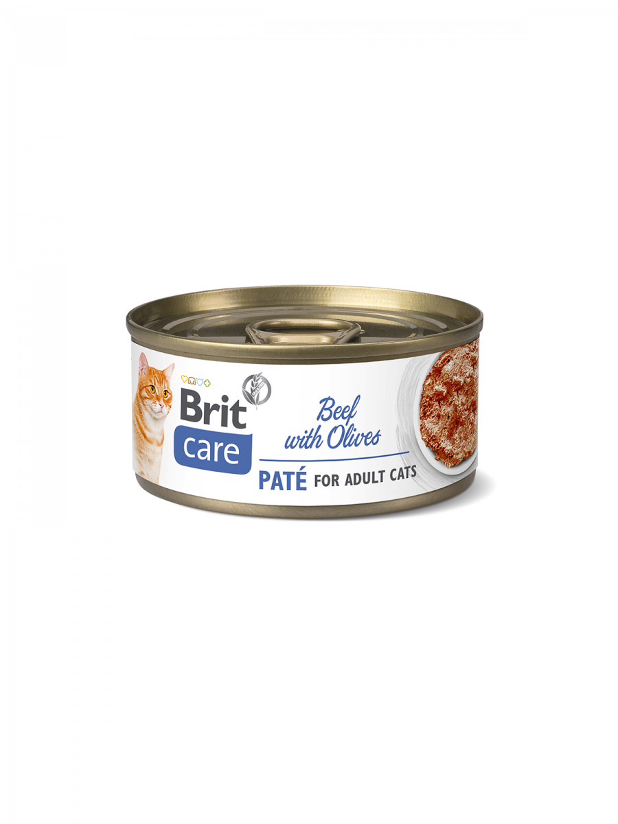 Brit Care Cat BEEF PATE WITH OLIVES - 70 g