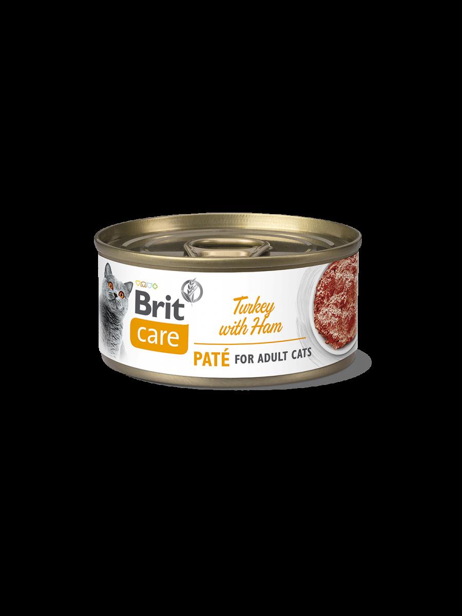 Brit Care Cat TURKEY PATE WITH HAM - 70 g