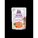 Brit Care Cat Pouch KITTEN - Tender Turkey in Gravy - 85g