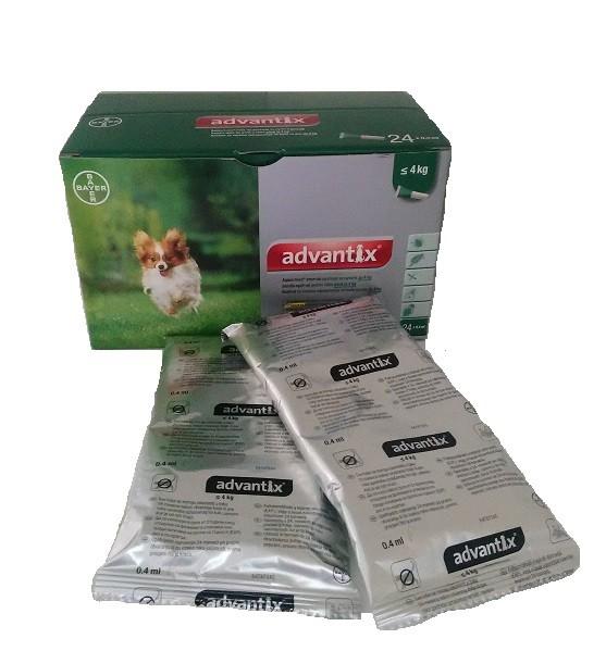 Advantix caini sub 4 kg (Advantix 40) - 4 pipete