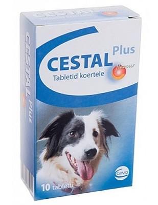 Cestal Plus Flavour pentru caini - 2 comprimate