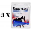 Pachet 3 X Frontline XL (caini peste 40 kg)