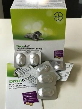 Drontal Plus Flavour pentru caini - folie cu 2 comprimate