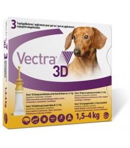 Vectra 3D pentru caini 1.5 – 4 kg (3 pipete)