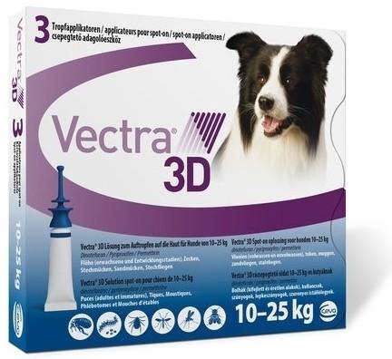 Vectra 3D pentru caini 10 - 25 kg (3 pipete)
