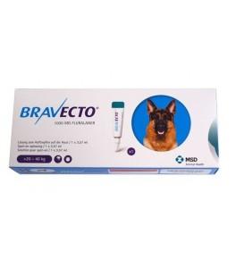 Bravecto spot-on 1000 mg - Pipeta pentru caini intre 20-40 kg (1 pipeta)