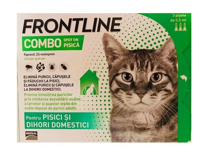 Frontline Combo pisici - cutie cu 3 pipete