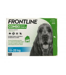 Frontline Combo caini 10-20 kg (M) - cutie cu 3 pipete