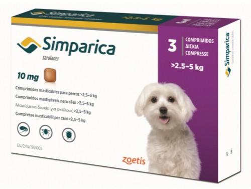 Simparica 10 mg (caini 2.5-5 kg) - 3 comprimate masticabile