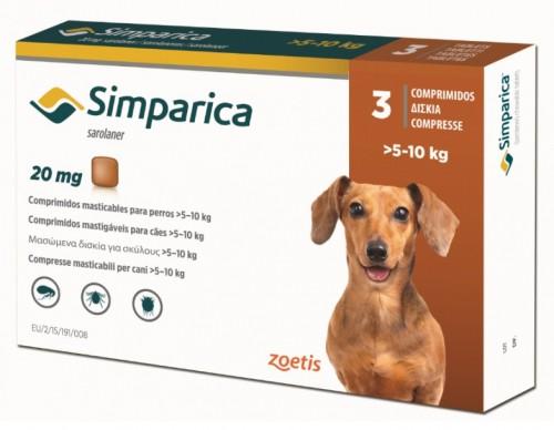 Simparica 20 mg (caini 5-10 kg) - 3 comprimate masticabile