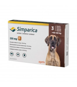 Simparica 120 mg (caini 40-60 kg) - 3 comprimate masticabile