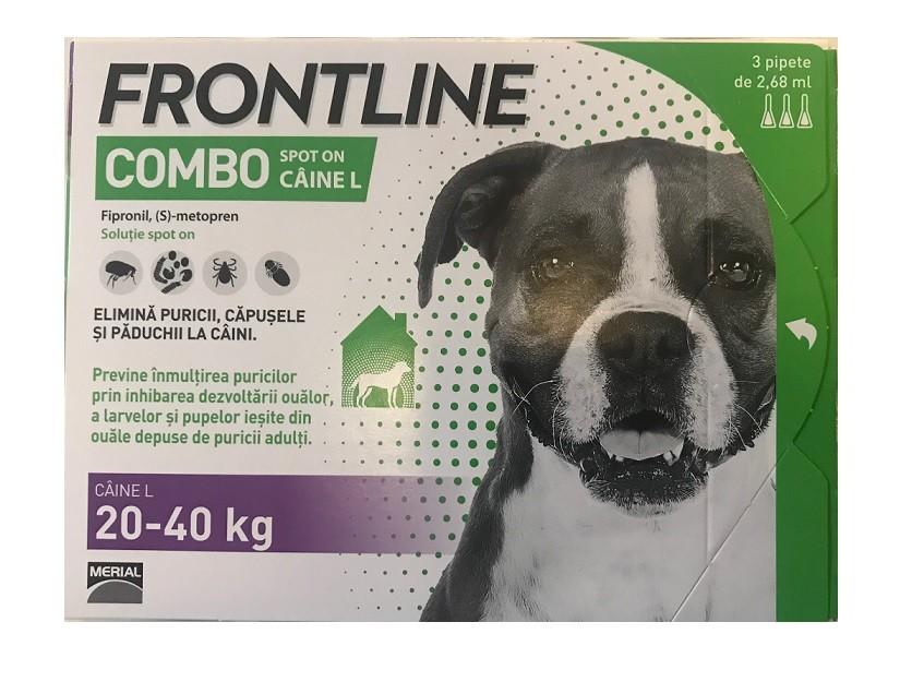 Frontline Combo caini 20-40 kg (L) - cutie cu 3 pipete