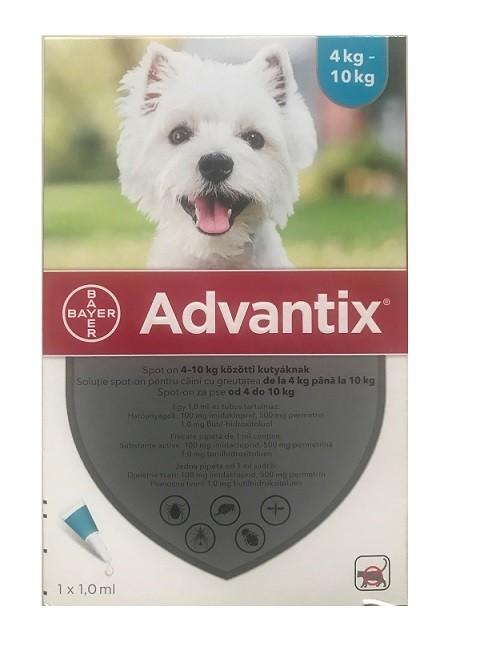 1 pipeta Advantix caini 4-10 kg (Advantix 100)