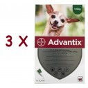 Advantix caini sub 4 kg (Advantix 40) - 3 pipete
