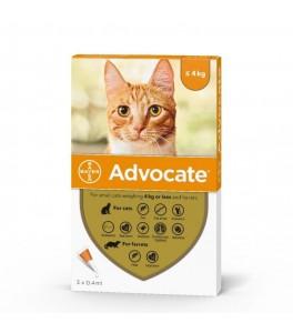 Advocate pisici sub 4 kg - 3 pipete antiparazitare