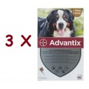 Advantix caini 40-60 kg (Advantix 600) - 3 pipete