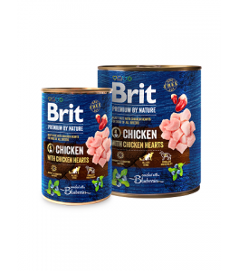 Brit Premium by Nature Chicken with Hearts - 400g