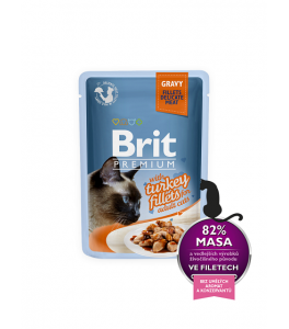 Brit Premium Cat Delicate File de Curcan in sos - 85g