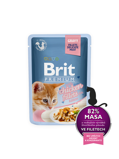 Brit Premium Cat  Delicate File de Pui in sos - Kitten - 85g