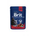 Brit Premium Cat cu vita si mazare - 100 g