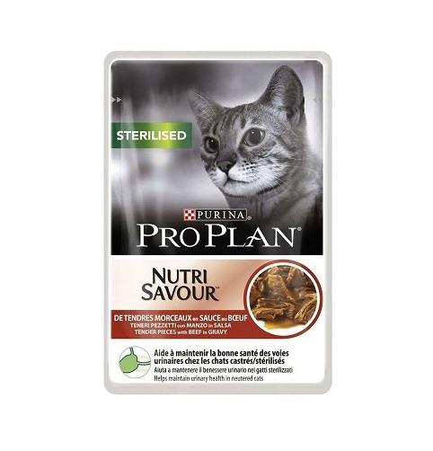Purina Pro Plan Sterilised - plic hrana umeda pisici sterilizate - vita - 85 g