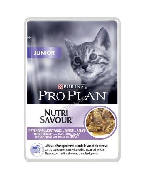 Purina Pro Plan Junior - plic hrana umeda pisici - curcan - 85 g