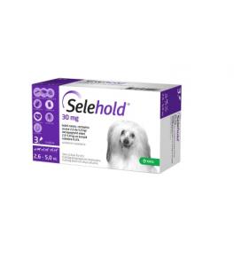 Selehold 30 mg pentru caini intre 2,6 -5 kg - cutie cu 3 pipete