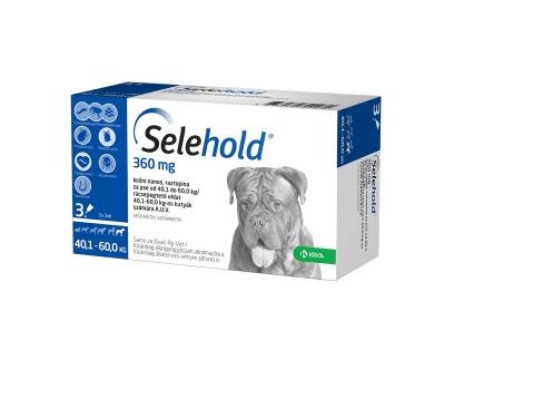 Selehold 360 mg pentru caini intre 40.1-60 kg - cutie cu 3 pipete