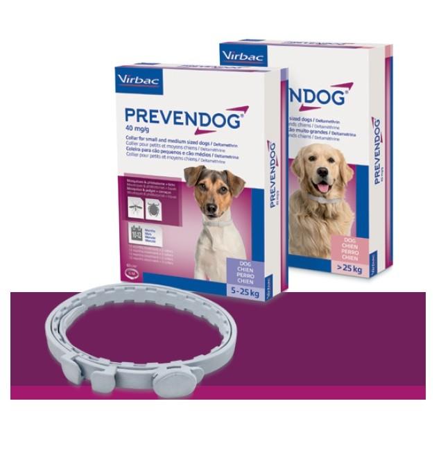 Prevendog L - pachet cu 2 zgarzi antiparazitare pentru caini peste 25 kg (75 cm)