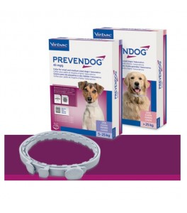 Prevendog S - pachet cu 2 zgarzi antiparazitare pentru caini sub 25 kg (60 cm)