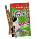 Sanal Soft Sticks Lamb and Rice - 3 bucati, pentru pisici - 15g
