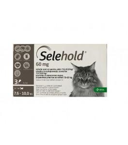 Selehold 60 mg pentru pisici intre 7.5-10 kg - cutie cu 3 pipete