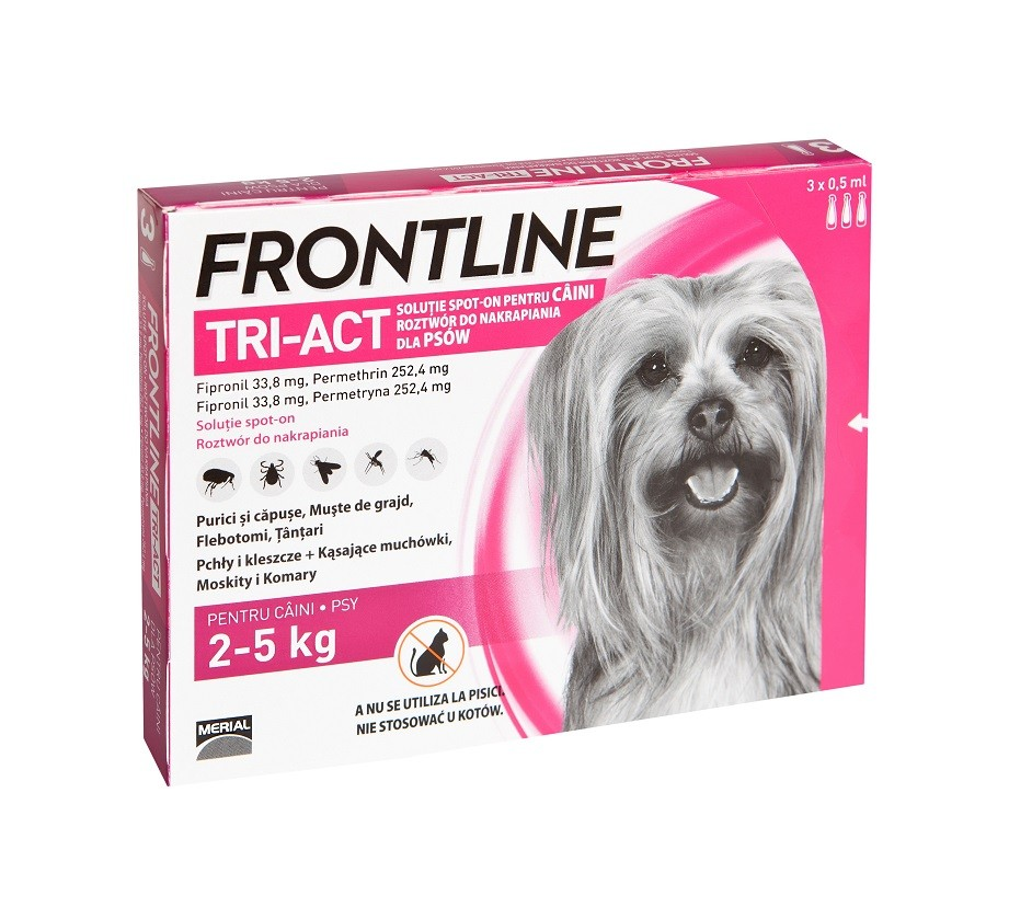 Frontline Tri-Act caini 2-5 kg (3 pipete XS)