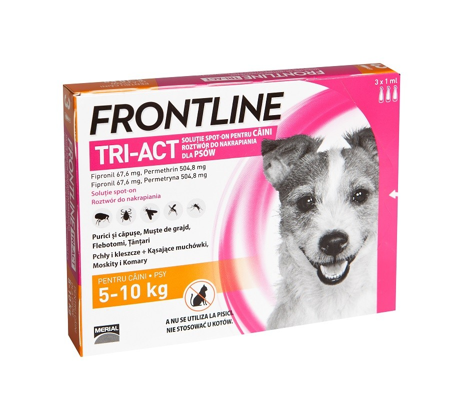 Frontline Tri-Act caini 5-10 kg (3 pipete S)